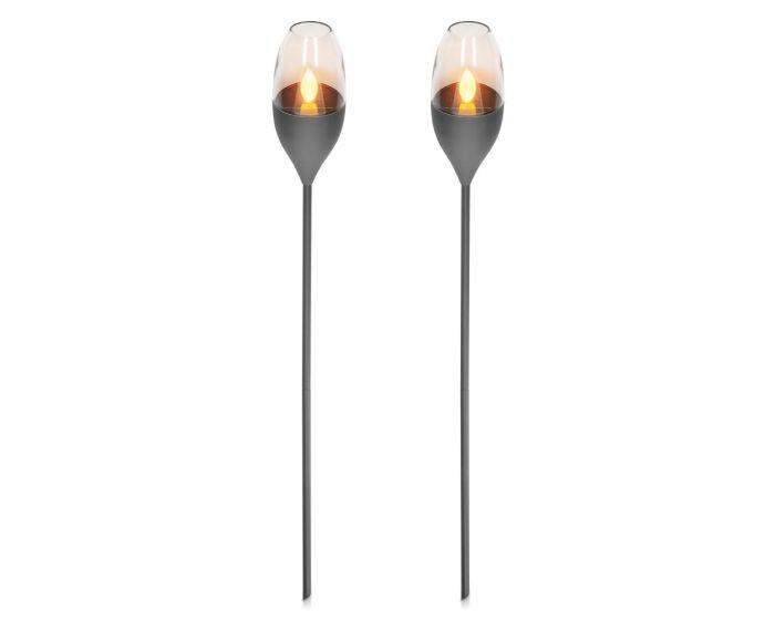 Navaris Outdoor Solar Torch Lights 2-Pack (47538.19.02) Φωτισμός Κήπου LED 112cm - Dark Grey