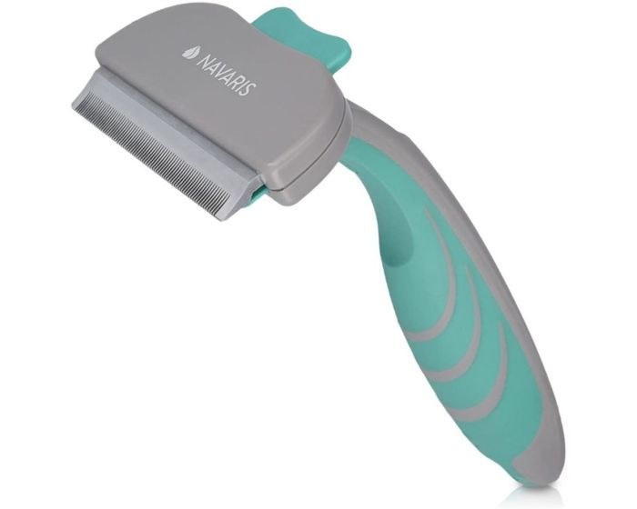 Navaris Pet Brush Deshedding Tool (44331) Βούρτσα για Κατοικίδια - Gray