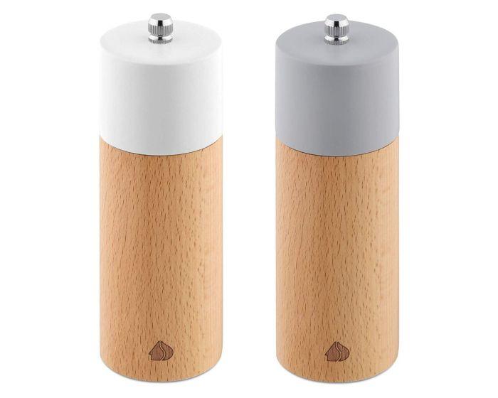 Navaris Salt and Pepper Wooden Mill Set Design 2 (49616.04) Δοχεία για Αλάτι και Πιπέρι με Κεραμικό Μύλο