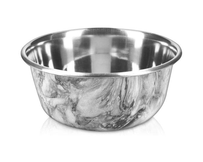 Navaris Stainless Steel Feeding Bowl (46948.3) Ανοξείδωτο Μπολ Φαγητού για Κατοικίδια - Marble Design