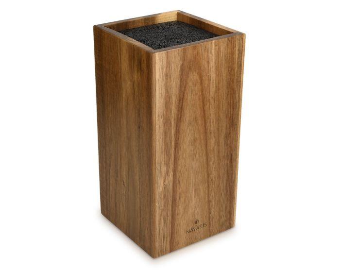 Navaris Upright Wooden Kitchen Knife Block (48460.01.1) Ξύλινη Βάση Στήριξης για Μαχαίρια
