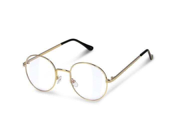 Navaris Vintage Retro Round Metal Unisex Glasses (48518.40) Γυαλιά με φίλτρο Anti-Blue Light - Gold