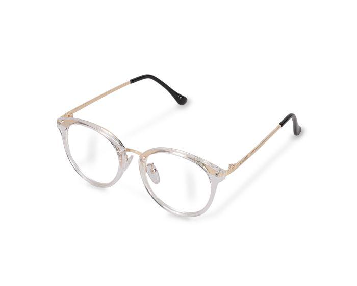 Navaris Vintage Retro Round Unisex Glasses (48516.03) Γυαλιά με φίλτρο Anti-Blue Light - Clear