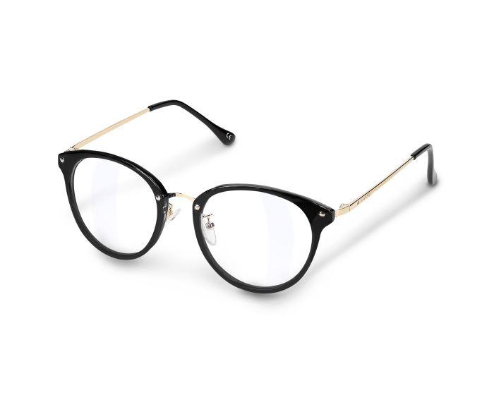 Navaris Vintage Retro Round Unisex Glasses (48516.01) Γυαλιά με φίλτρο Anti-Blue Light - Black