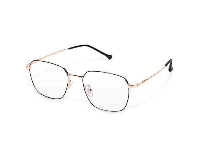 Navaris Vintage Retro Square Metal Unisex Glasses (48518.81) Γυαλιά με φίλτρο Anti-Blue Light - Gold