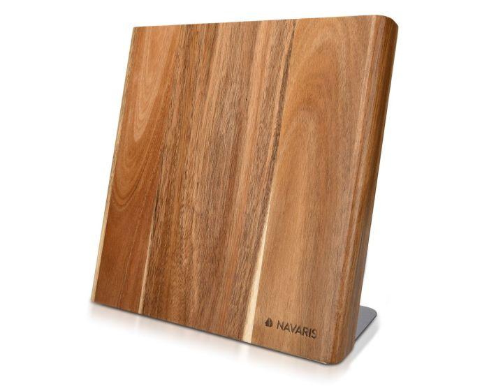 Navaris Wooden Magnetic Knife Holder (47366.01) Βάση Στήριξης για Μαχαίρια Acacia