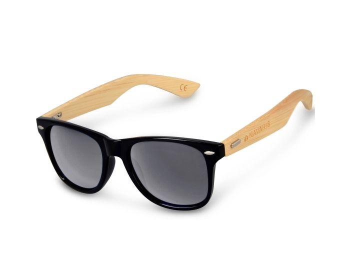 Navaris Wayfarer Unisex Sunglasses (40731.01.47) Ξύλινα Γυαλιά Ηλίου UV400 - Black