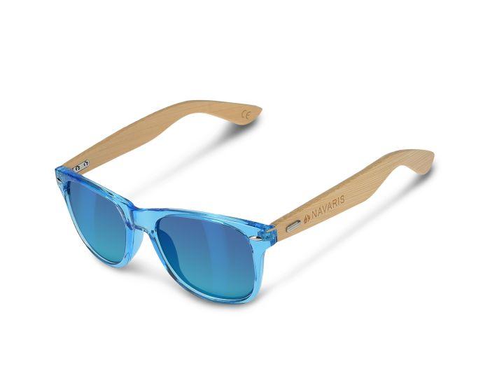 Navaris Wayfarer Unisex Sunglasses (40731.04.04) Ξύλινα Γυαλιά Ηλίου UV400 - Blue