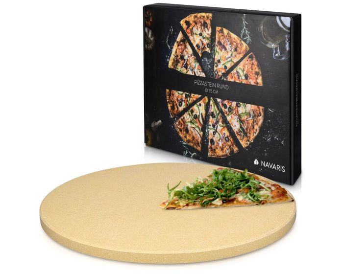 Navaris XL Pizza Stone for Baking (42560) Πέτρινη Πλάκα για Φούρνο 30.5 x 1.5cm