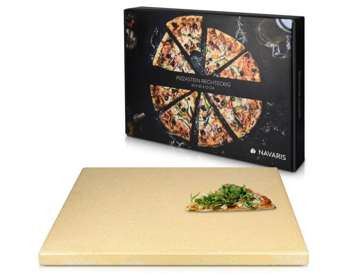 Navaris XL Pizza Stone for Baking (42561) Πέτρινη Πλάκα για Φούρνο 38 x 30 x 1.5cm