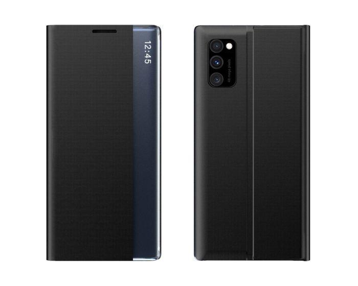 New Sleep Flip Cover Case Θήκη με Ημιδιάφανο Παράθυρο - Black (Xiaomi Poco M3 / Redmi 9T)