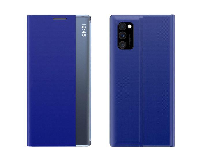 New Sleep Flip Cover Case Θήκη με Ημιδιάφανο Παράθυρο - Blue (Xiaomi Poco M3 / Redmi 9T)