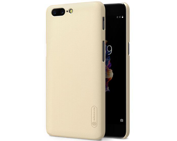 Nillkin Super Frosted Shield Case Σκληρή Θήκη Gold + Μεμβράνη Οθόνης (OnePlus 5)