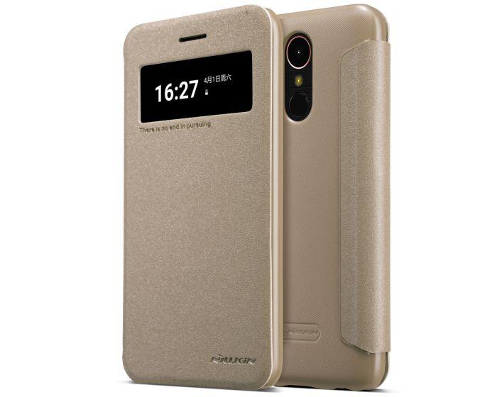Nillkin Smart Case Preview Θήκη με Ενεργό Παράθυρο - Gold Sparkle (LG K10 2017)