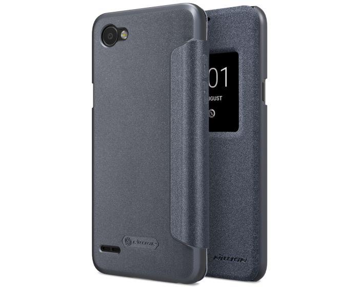 Nillkin Smart Case Preview Θήκη με Ενεργό Παράθυρο - Black Sparkle (LG Q6)
