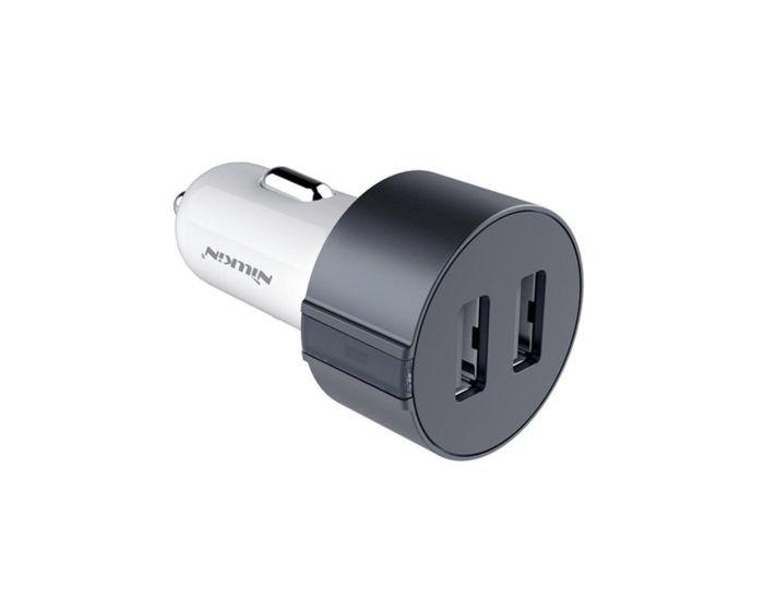 Nillkin Vigor Dual Car Charger - Διπλός Φορτιστής Αυτοκινήτου USB 3.4A - Grey