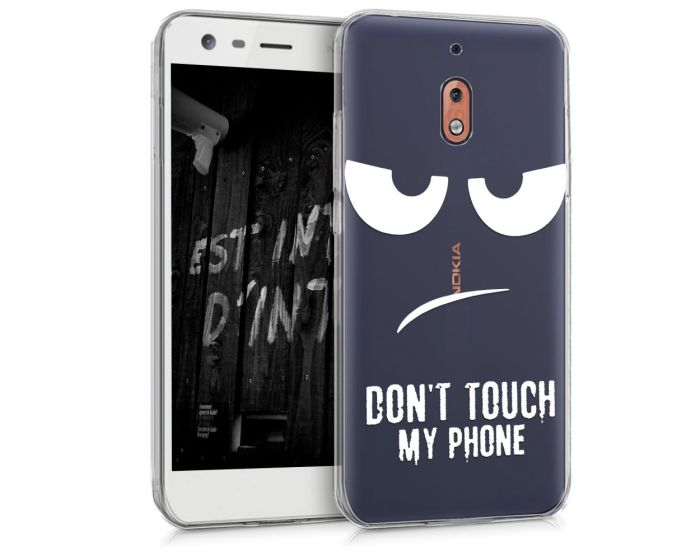 KWmobile Θήκη Σιλικόνης Slim Fit Silicone Case (45386.01) Don't touch my phone (Nokia 2.1 2018)
