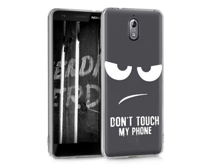 KWmobile Θήκη Σιλικόνης Slim Fit Silicone Case (45394.01) Don't touch my phone (Nokia 3.1 2018)