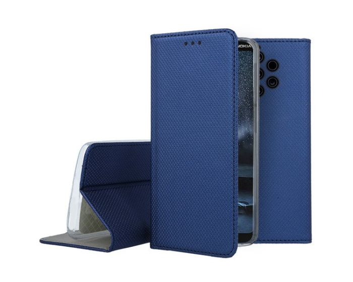 Forcell Smart Book Case με Δυνατότητα Stand Θήκη Πορτοφόλι Navy Blue (Nokia 9 PureView)