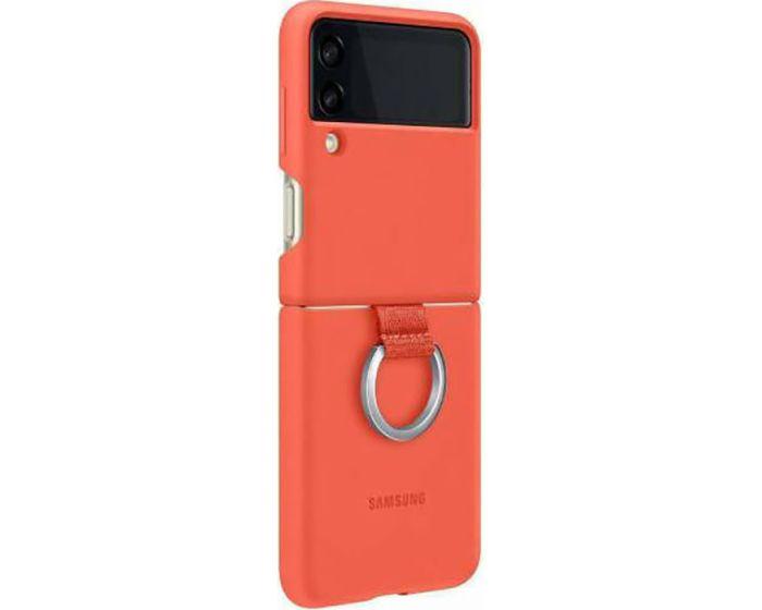 Original Samsung Silicone Ring Case (EF-PF711TPEGWW) Θήκη Σιλικόνης Coral (Samsung Galaxy Z Flip 3 5G)