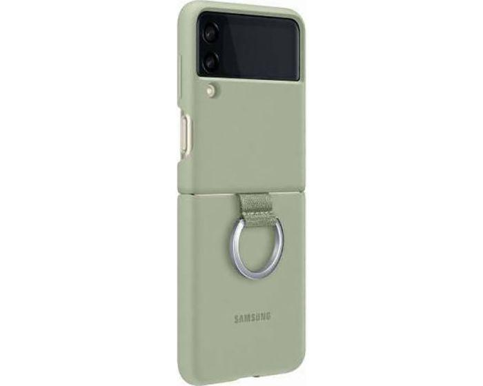 Original Samsung Silicone Ring Case (EF-PF711TMEGWW) Θήκη Σιλικόνης Olive Green (Samsung Galaxy Z Flip 3 5G)