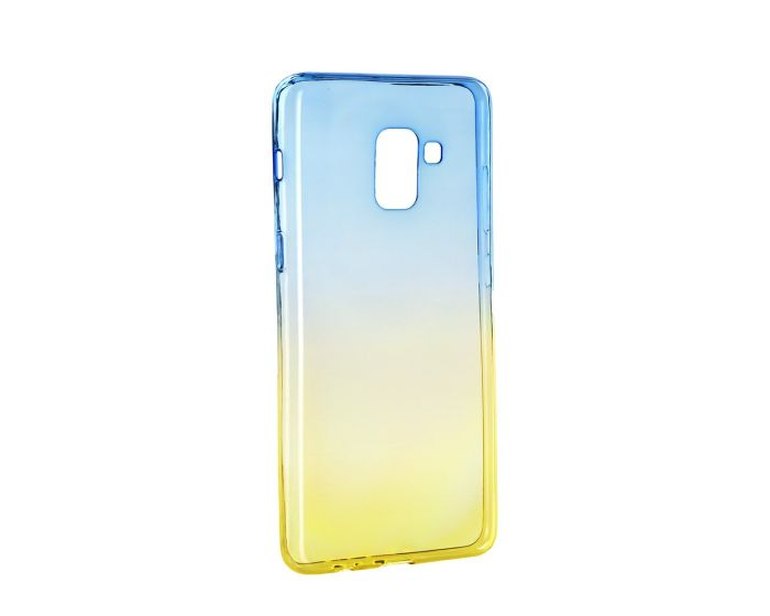 Forcell Soft TPU Ombre - Blue / Gold (Samsung Galaxy A8 2018)