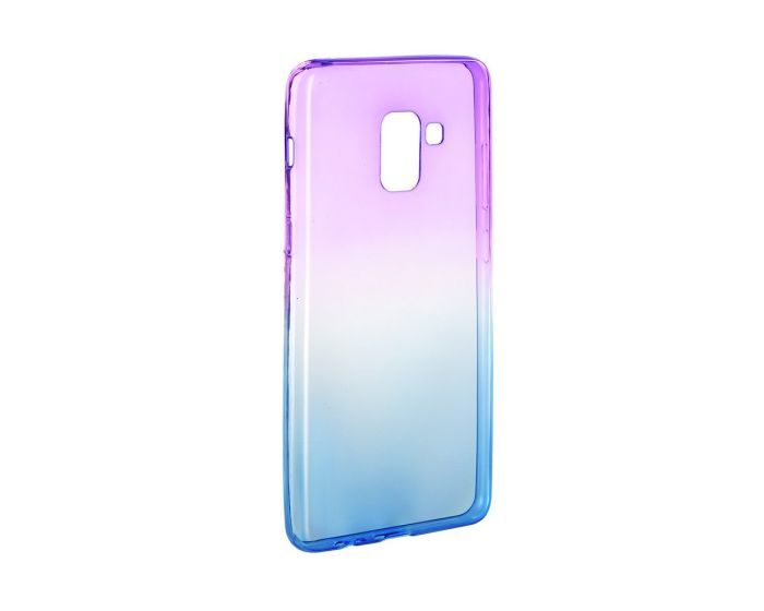 Forcell Soft TPU Ombre - Purple / Blue (Samsung Galaxy A8 2018)
