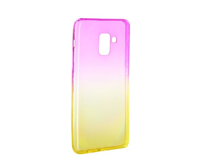 Forcell Soft TPU Ombre - Pink / Gold (Samsung Galaxy A8 2018)