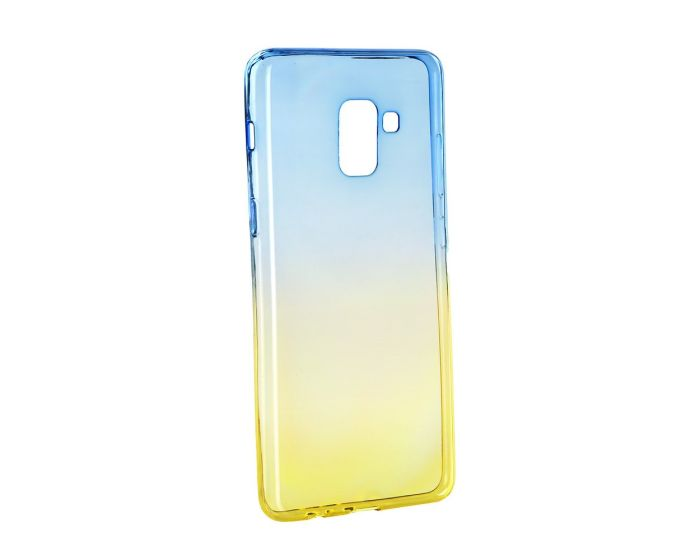 Forcell Soft TPU Ombre - Blue / Gold (Samsung Galaxy A8 Plus 2018)