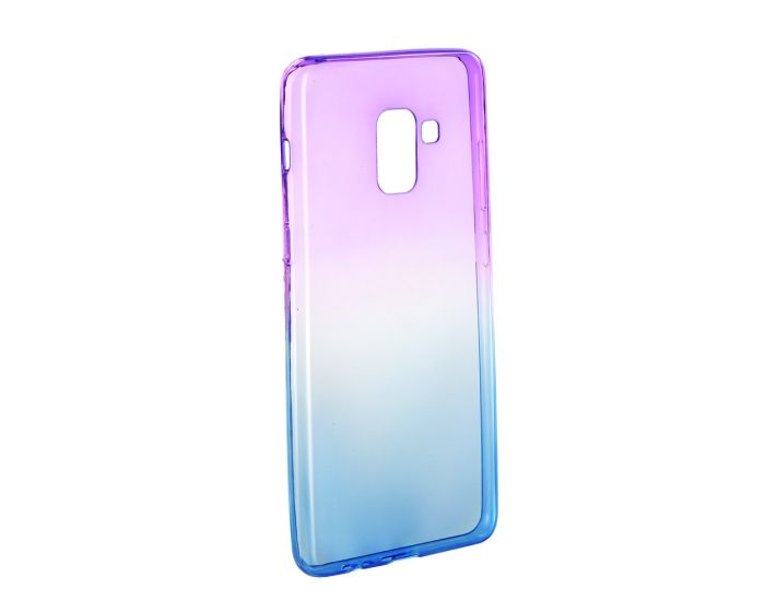 Forcell Soft TPU Ombre - Purple / Blue (Samsung Galaxy A8 Plus 2018)