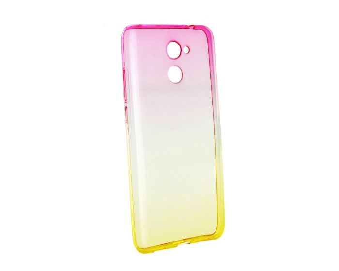 Forcell Soft TPU Ombre - Pink / Gold (Huawei Y7)