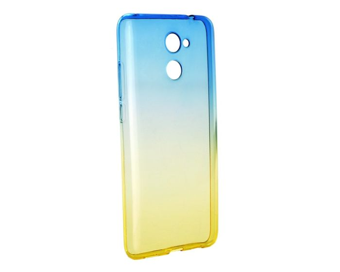 Forcell Soft TPU Ombre - Blue / Gold (Huawei Y7)