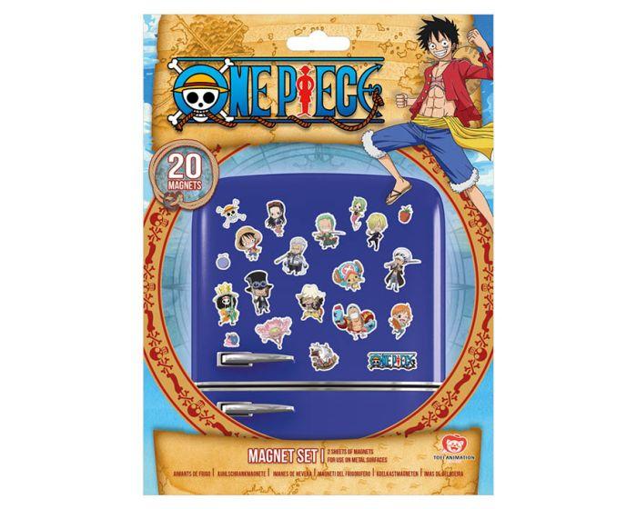 One Piece (Chibi) Magnet Set - Μαγνητάκια Ψυγείου 18x24cm