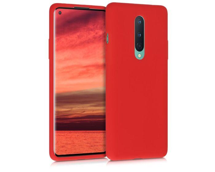 KWmobile Flexible Rubber Case Θήκη Σιλικόνης (51867.09) Red (OnePlus 8)