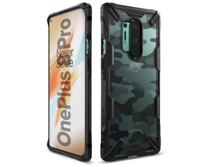 Ringke Fusion-X Σκληρή Θήκη με TPU Bumper Camo (OnePlus 8 Pro)