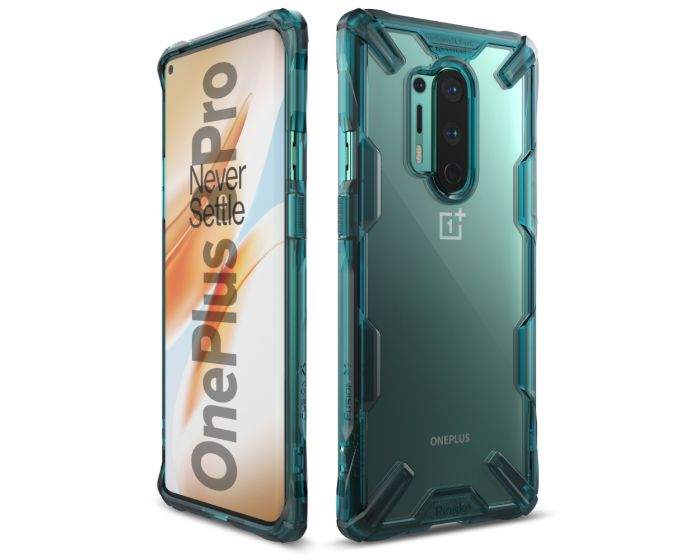 Ringke Fusion-X Σκληρή Θήκη με TPU Bumper Turquoise Green (OnePlus 8 Pro)