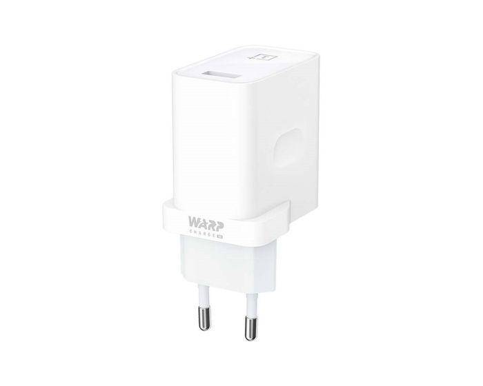 OnePlus Warp Charge 30 Power Adapter 6A Αντάπτορας Φόρτισης Τοίχου - White