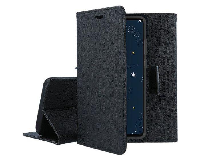 Tel1 Fancy Diary Case Θήκη Πορτοφόλι με δυνατότητα Stand Black (OPPO A12)