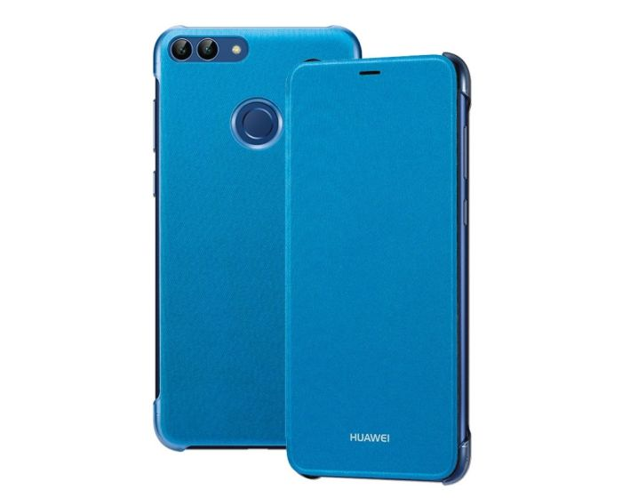 Original Huawei Slim Flip Book Case - Blue (Huawei P Smart)