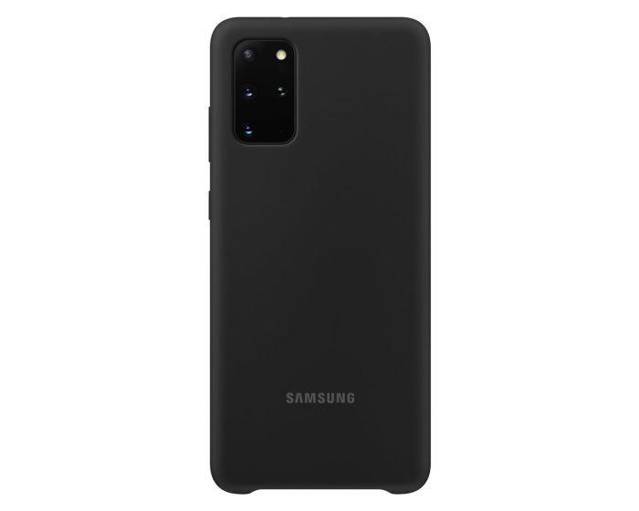 Original Samsung Silicone Case (EF-PG985TBEGEU) Θήκη Σιλικόνης Black (Samsung Galaxy S20 Plus)