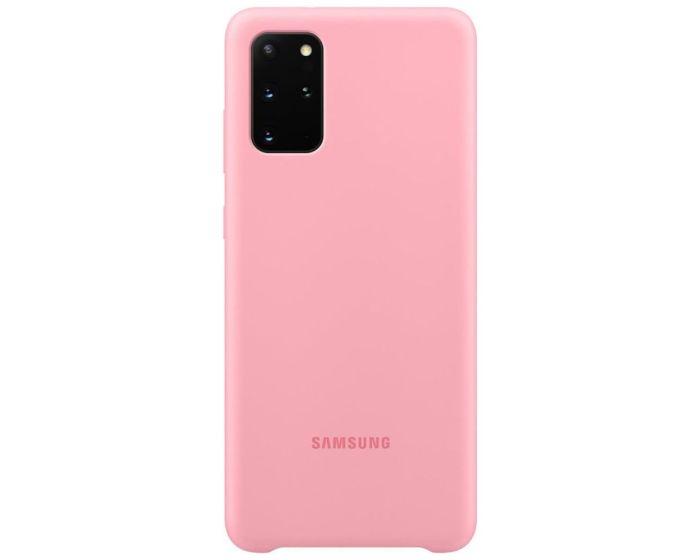 Original Samsung Silicone Case (EF-PG985TPEGEU) Θήκη Σιλικόνης Pink (Samsung Galaxy S20 Plus)
