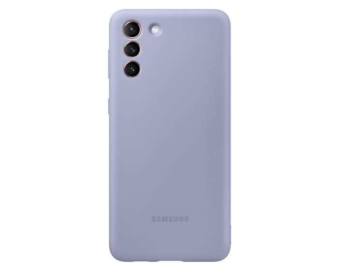 Original Samsung Silicone Case (EF-PG996TVEGWW) Θήκη Σιλικόνης Violet (Samsung Galaxy S21 Plus 5G)
