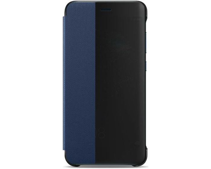 Original View Smart Cover Flip Case Θήκη με Ενεργό Παράθυρο - Blue (Huawei P10 Lite)