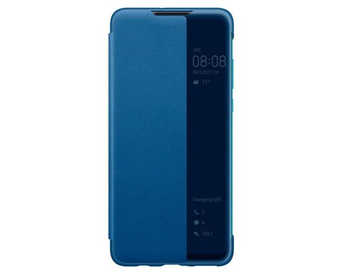 Huawei Original View Smart Cover Flip Case (51993077) Θήκη με Ενεργό Παράθυρο - Blue (Huawei P30 Lite)