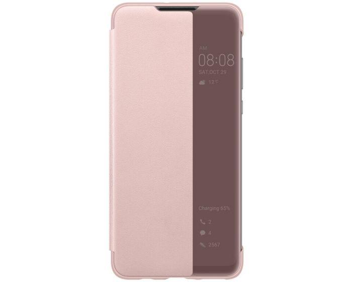 Huawei Original View Smart Cover Flip Case (51993078) Θήκη με Ενεργό Παράθυρο - Pink (Huawei P30 Lite)