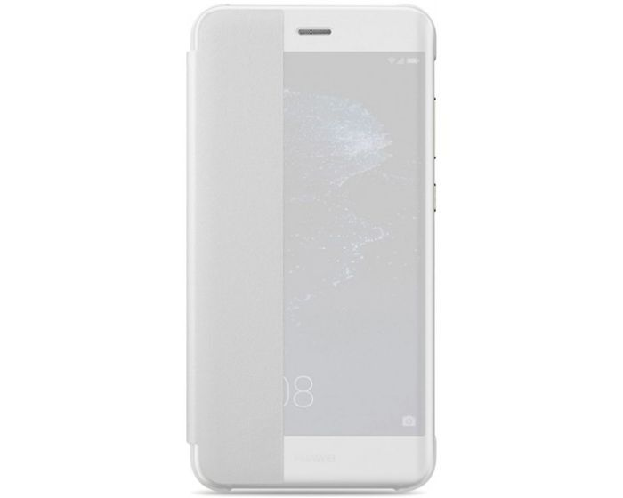 Original View Smart Cover Flip Case Θήκη με Ενεργό Παράθυρο - White (Huawei P10 Lite)