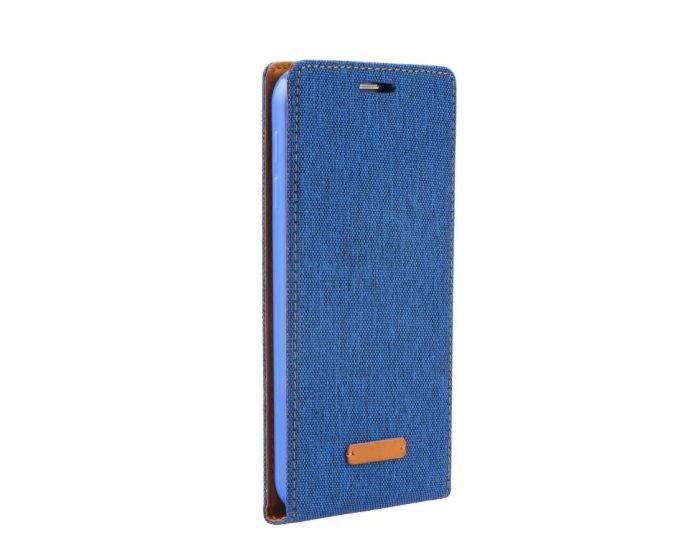 Forcell Canvas Flexi Υφασματινη Θήκη Πορτοφόλι Blue (Huawei Ascend P8)