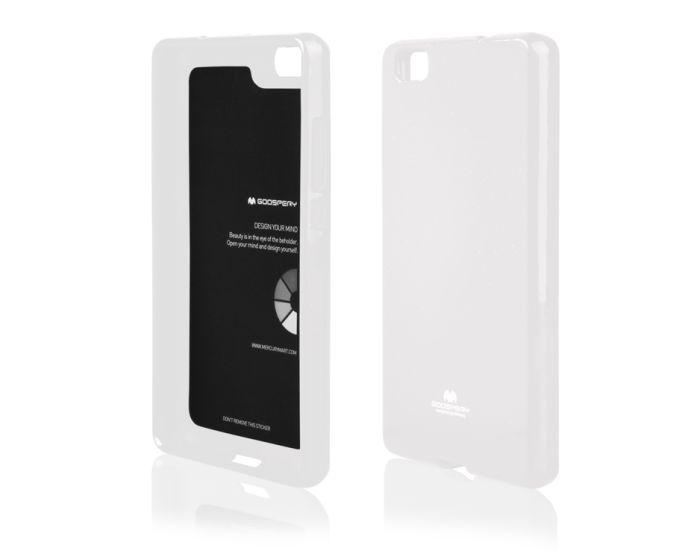 Mercury Jelly Slim Fit Case Θήκη Gel Λευκό (Huawei P8 Lite 2017 / P9 lite 2017 / Honor 8 Lite)