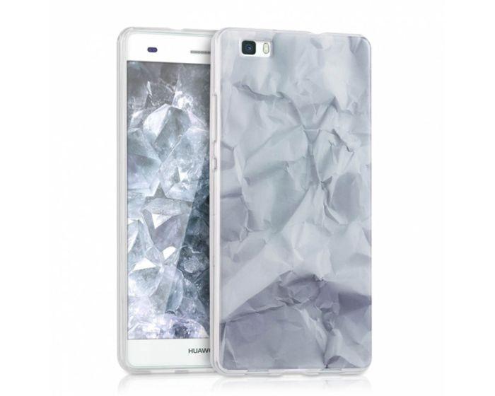 KWmobile Paper Design Silicone Case (38293.01) Θήκη Σιλικόνης Λευή (Huawei Ascend P8 Lite)