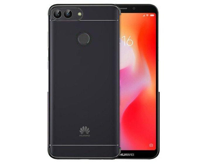 Plating Soft TPU Silicone Case Slim Fit - Θήκη Σιλικόνης Clear / Black (Huawei P Smart)